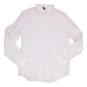 The Men's Store Linen Long Sleeve Button Down